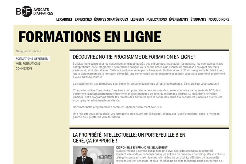 BCF - Formation en ligne
