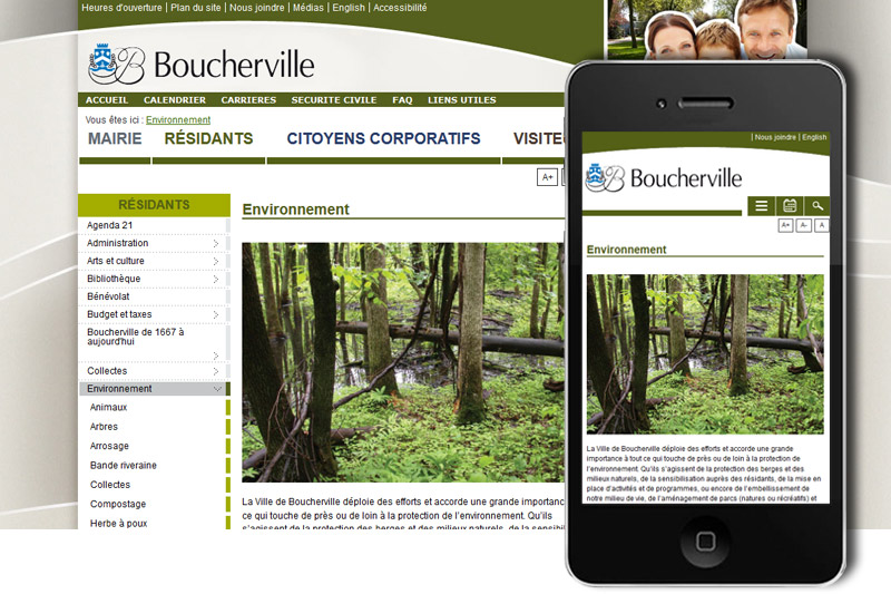 Ville de boucherville -Corporate Website
