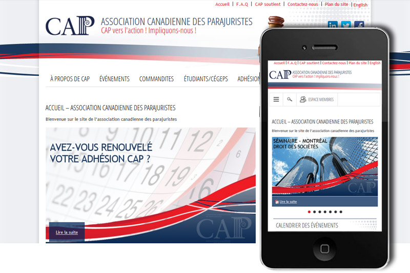 CAP-Légal- Website transactional